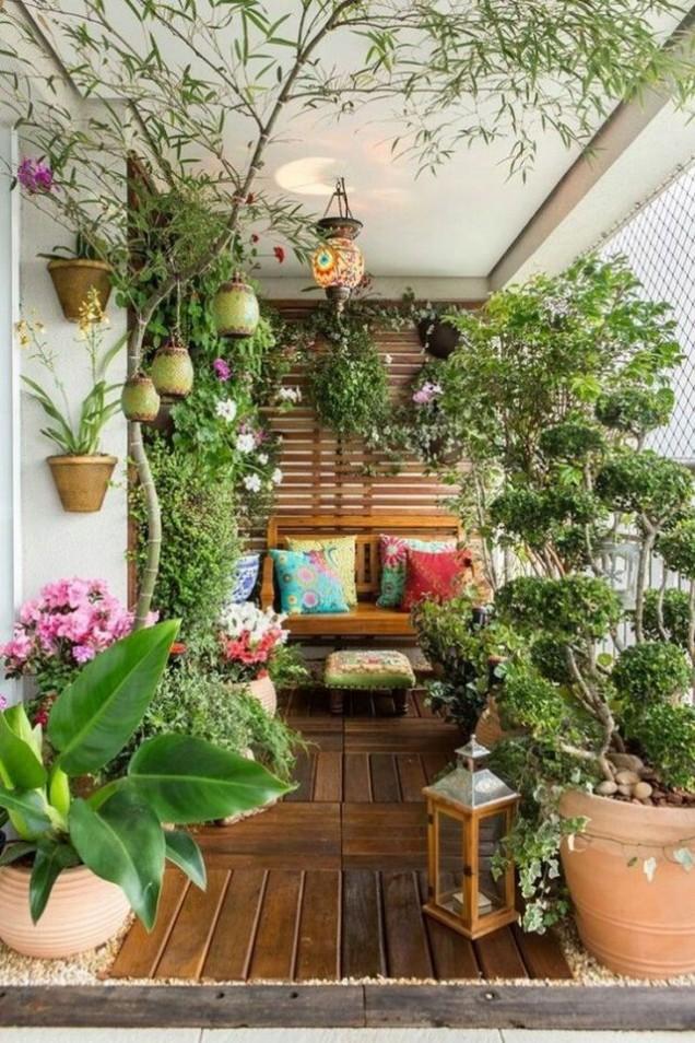 балкон романтична зеленина