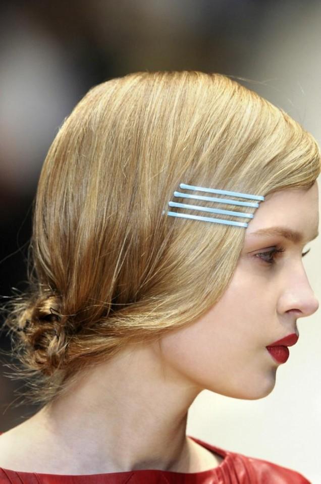 ретро прическа среднодълга коса