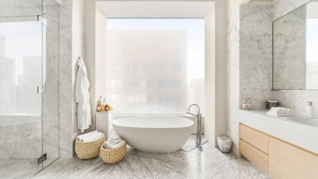 апартаментът на Дженифър Лопес баня