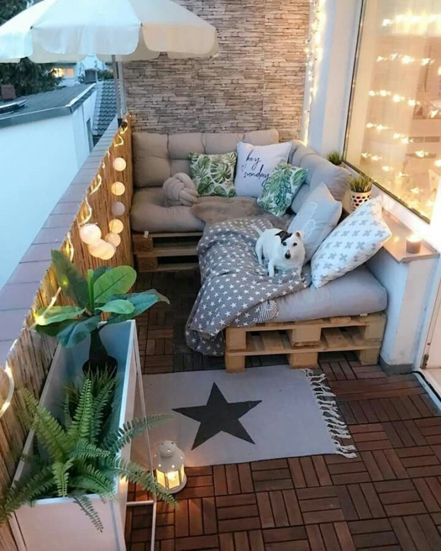 романтика на балкона в бохо стил
