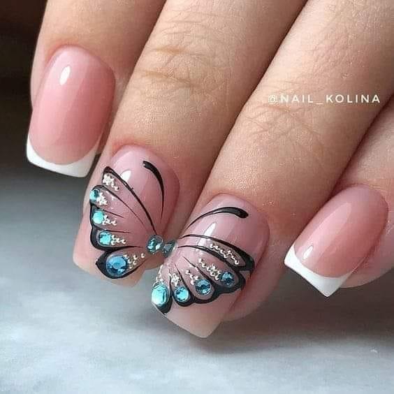 френски с пеперуди