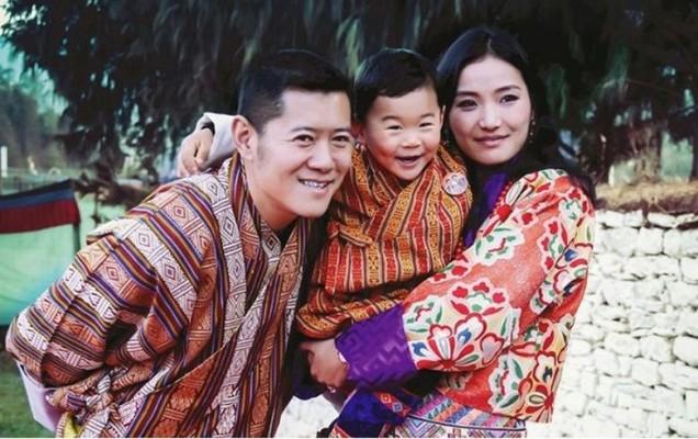 кралят на Бутан семейство