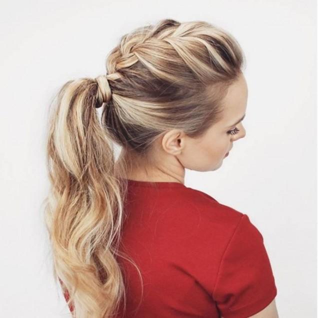 ефектна плитка тънка коса