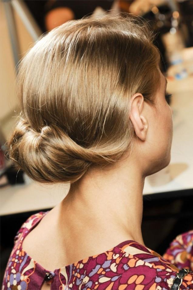 елегантен кок на къса коса