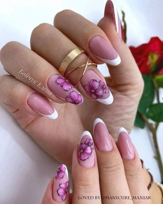 френски с цветя