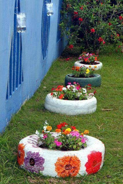 цветя в гуми