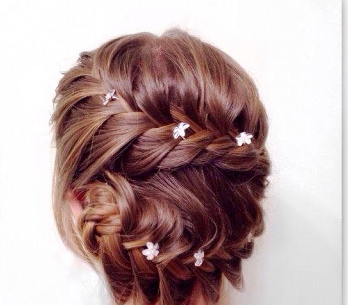 романтична прическа тънка коса