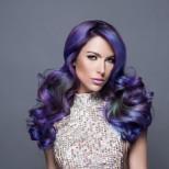 синьо омбре на косата