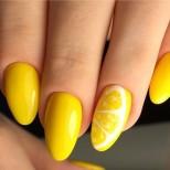 свеж лимонен маникюр