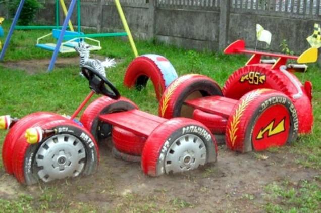 кола от стари гуми