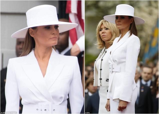 Мелания елегантна в бяло