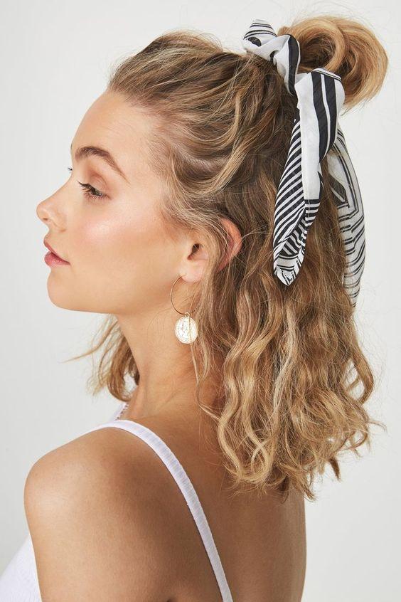 плажна прическа среднодълга коса