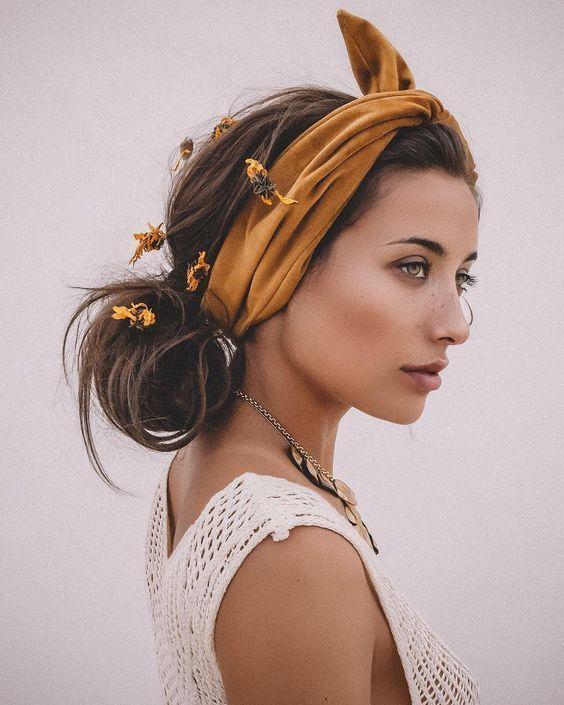секси фризура с шал