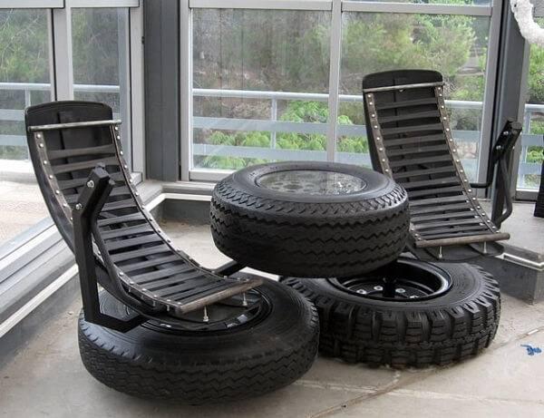 кресло от стари гуми