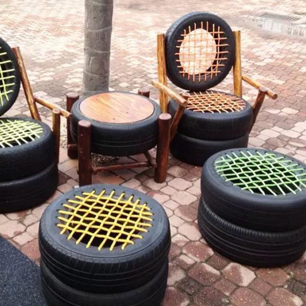 табуретка от гуми