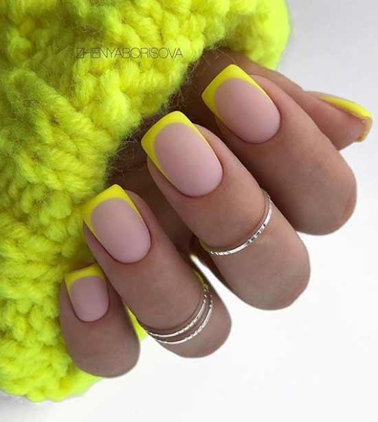 жълт стилен френч
