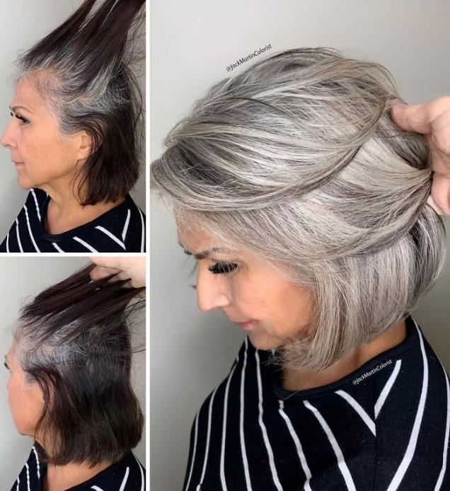 коса в сиви нюанси