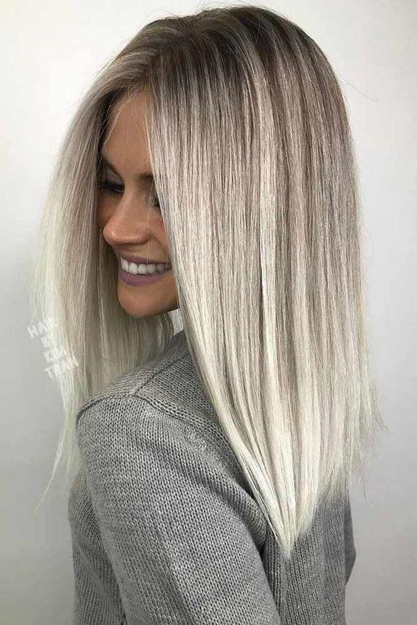 права коса средна дължина