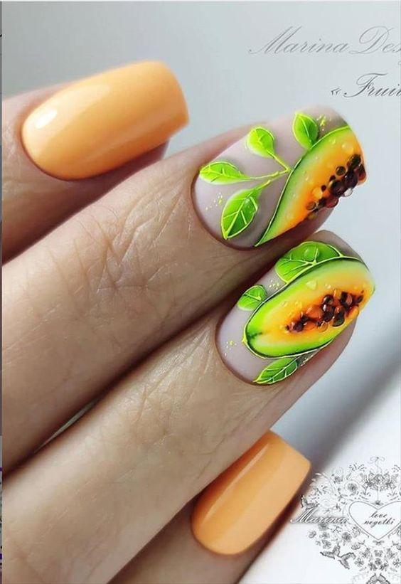 плодов маникюр папая