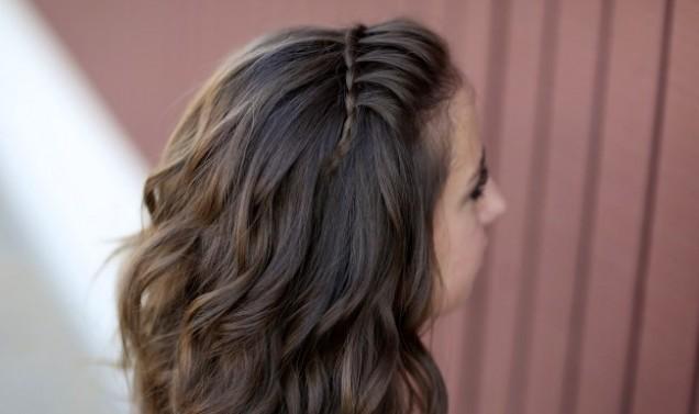френски водопад тънка коса