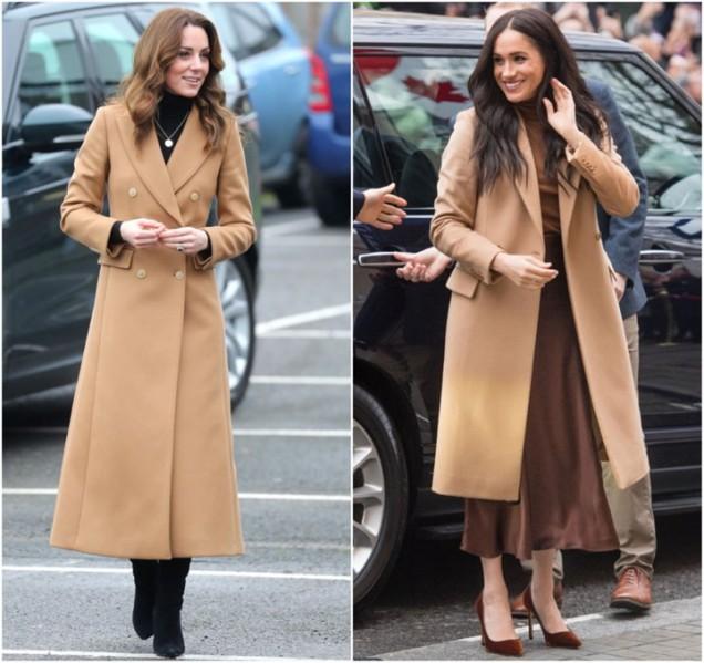 Меган и Кейт дълго палто