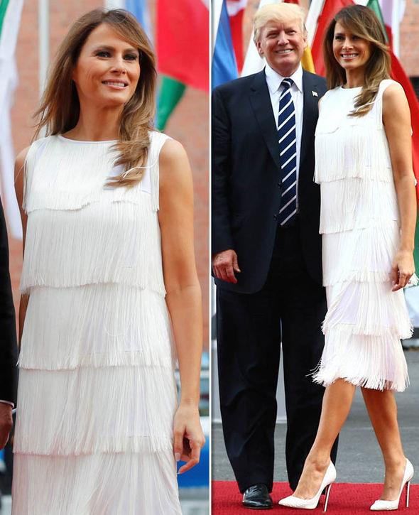 Мелания Тръмп ретро рокля