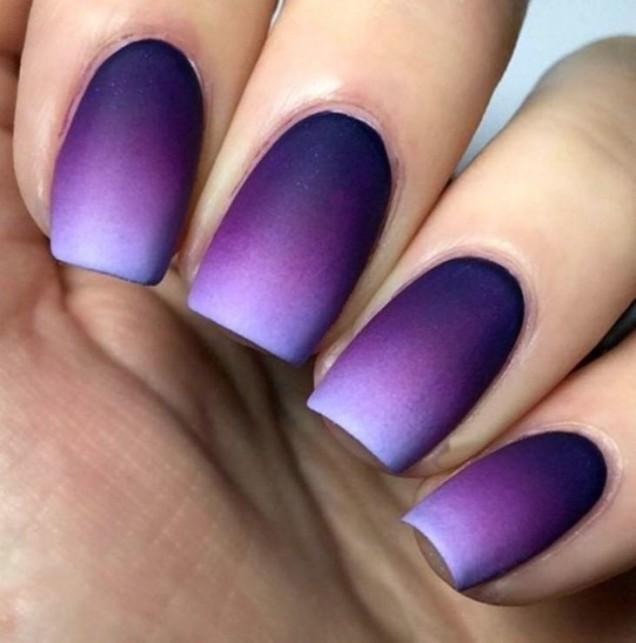 омбре лилаво