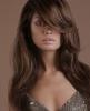 дълга коса скосен бретон