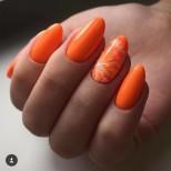 оранжев маникюр портокал
