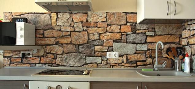 гръб на кухня от камък