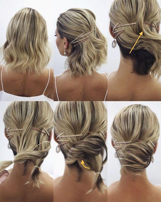 как да си вържа къса коса