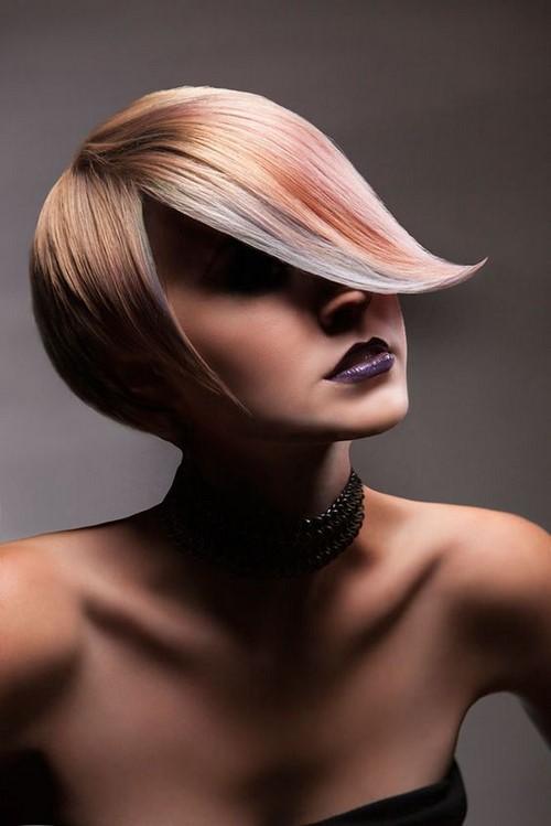 Елегантна прическа за къса коса