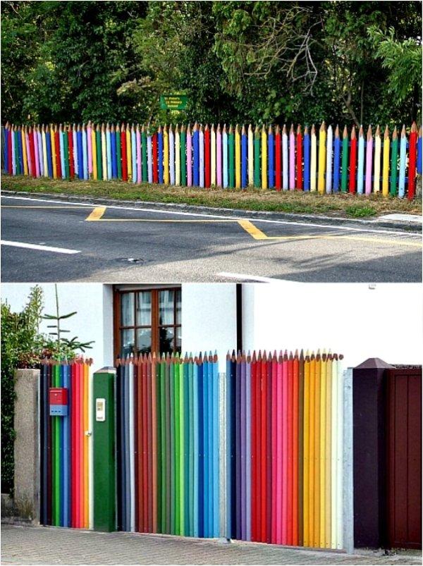 ограда цветни моливи