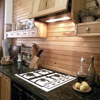 гръб на кухня от дърво