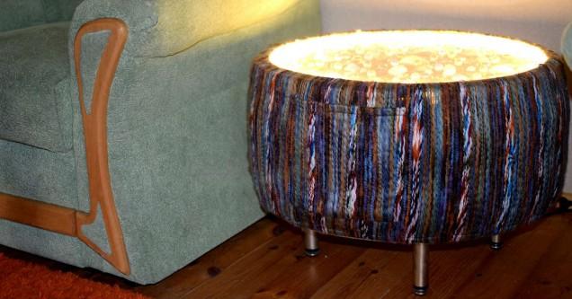 мебел от стари гуми