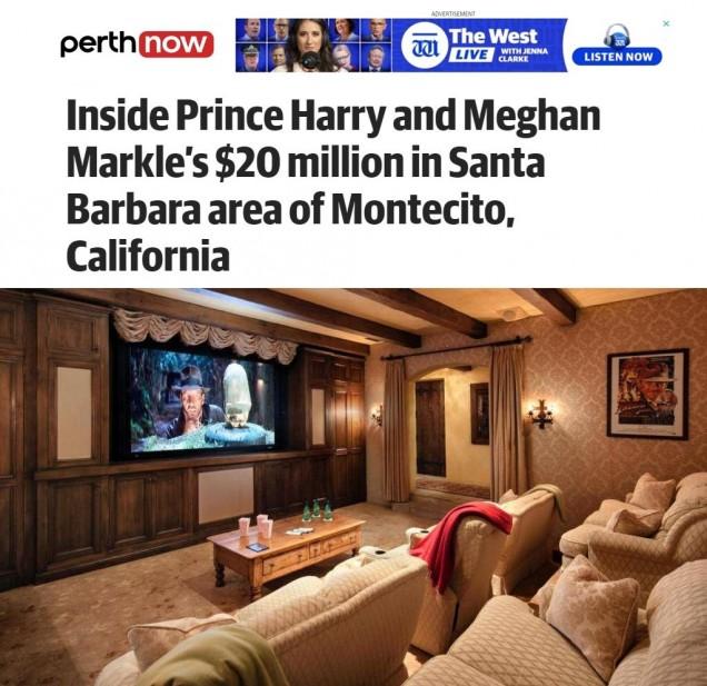 Меган и Хари имение Санта Барбара