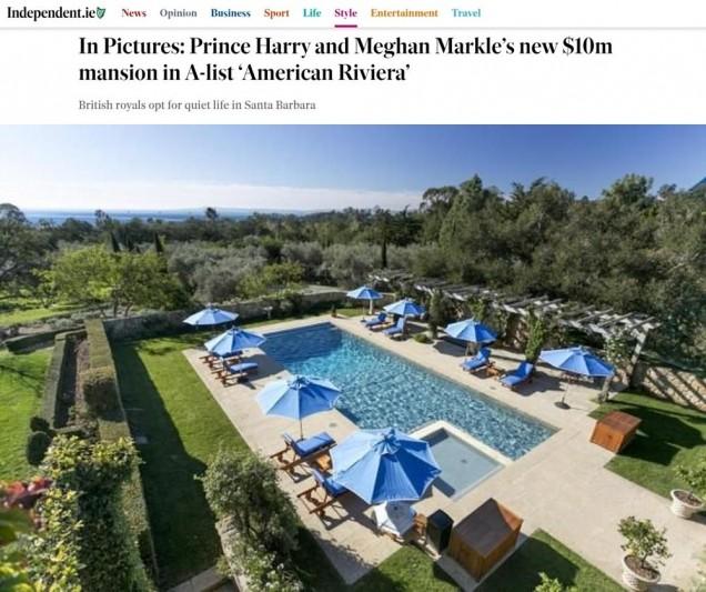 имението на Меган и Хари