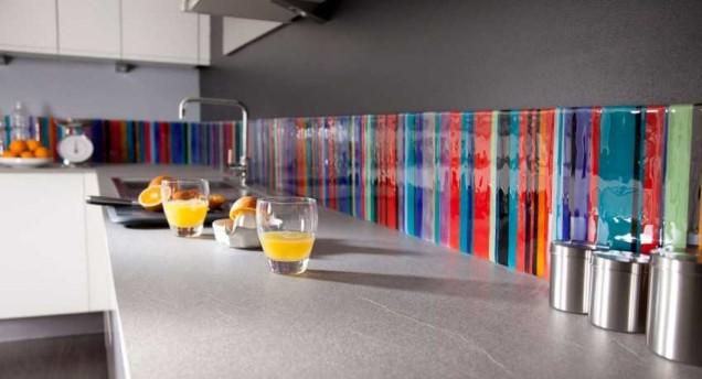 гръб на кухня цветно стъкло
