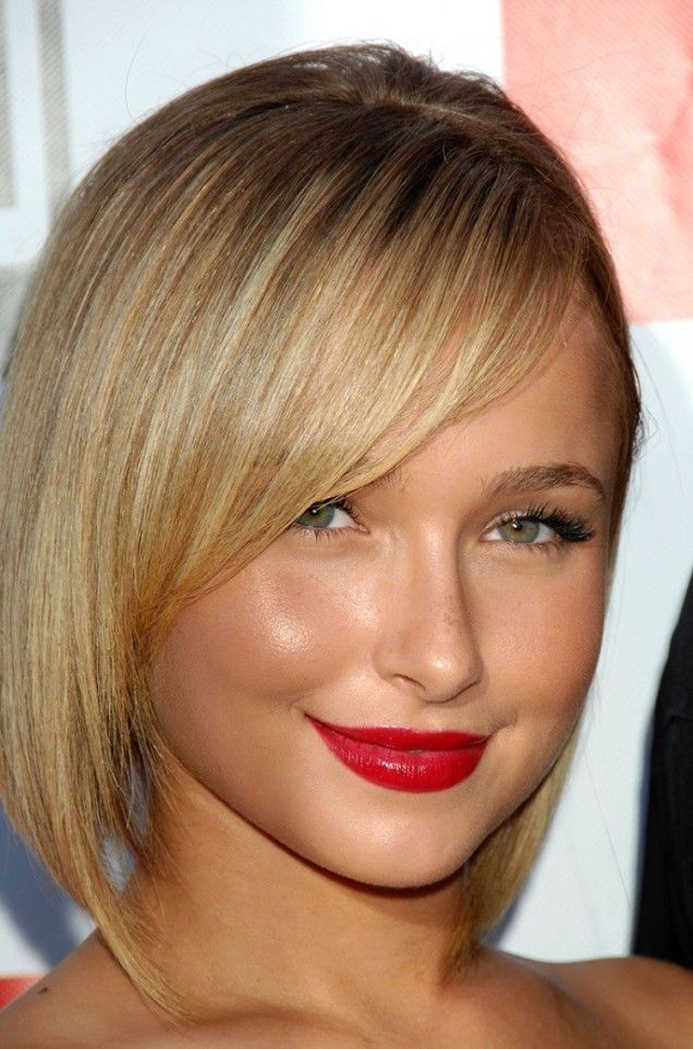 модерна прическа тънка коса