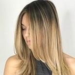 прическа дебют дълга права коса