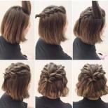 бърза прическа къса коса
