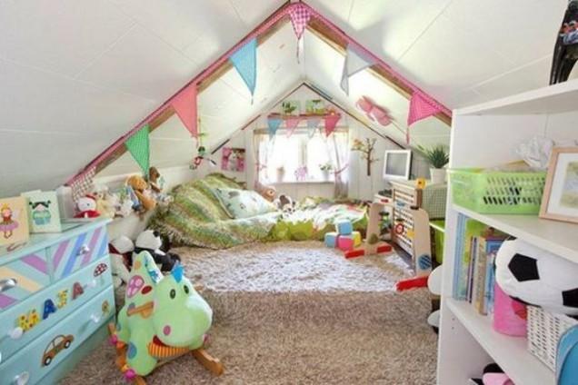 детска стая в мансарда