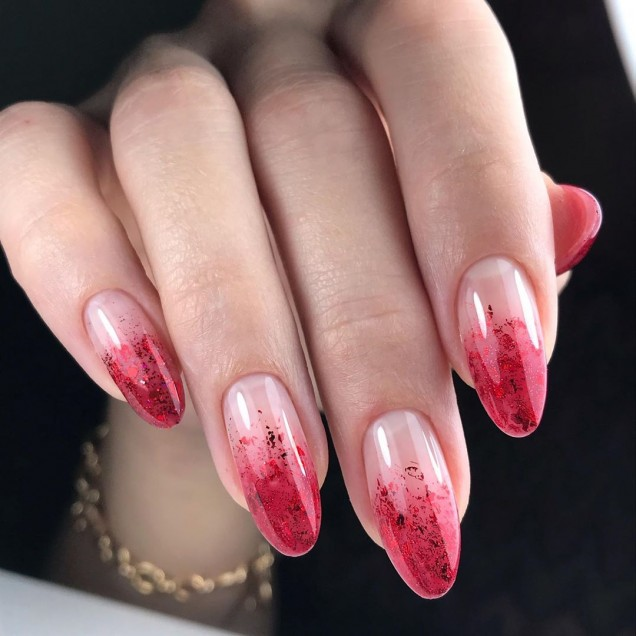 гол френч в розово