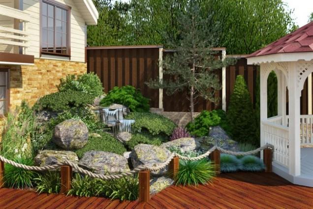 красив малък двор