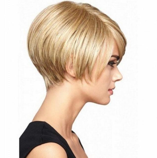 Прически за тънка коса с бретон
