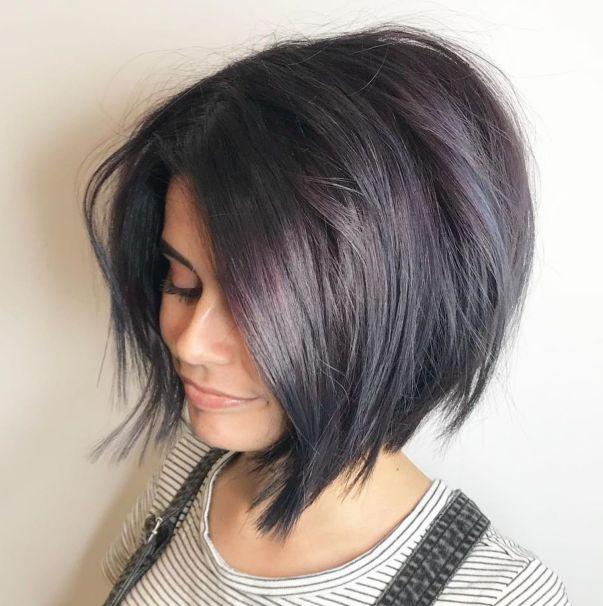 среднодъгла прическа гъста коса