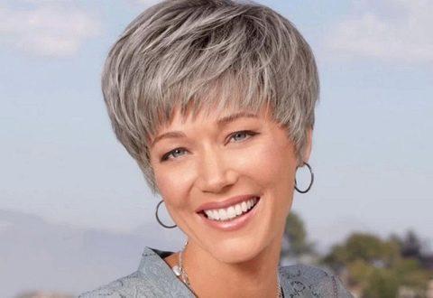 къса прическа сиви коси