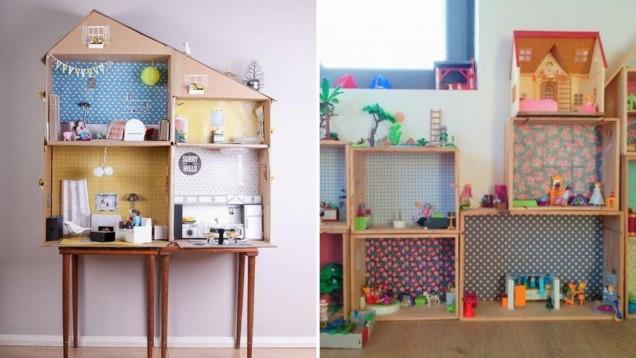къща за кукли от кашони