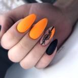 ярък оранжев маникюр