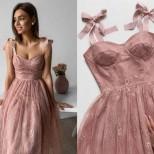 женствена рокля с корсет